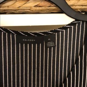 Halogen Tops - Halogen Black & White Pinstripe Top